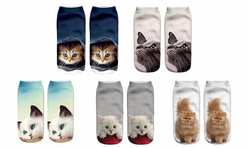 Cat or Dog socks pack of 5
