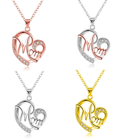 Mother's Day Gift Heart-shape Mum Necklace