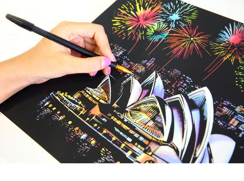 4pcs/Set A4 size Magic Scratch Art Painting DIY kit