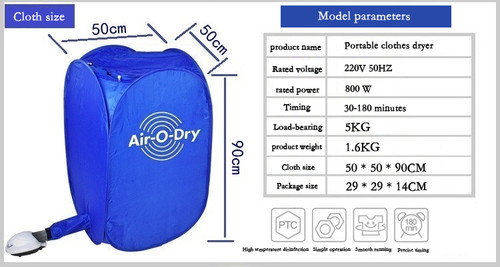 Air-O-Dry Portable Household Clothes Dryer Folding Mini Dryer Clothes Dryer Free Installation