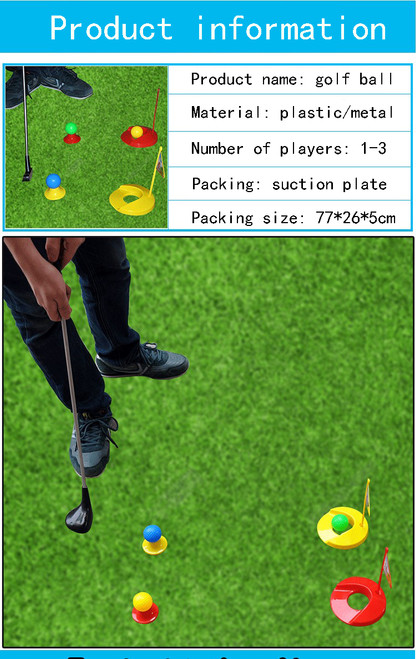 Children's golf metal cue parent-child outdoor toy sports suit