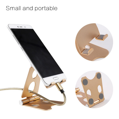 Adjustable Metal Folding Phone and Tablet Holder