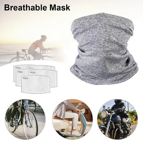 Sports Cycling Running Hiking Face CoverBandanas Scarf  with 10 Filter