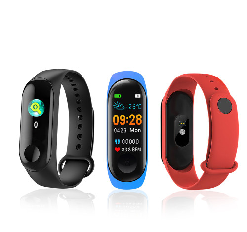 M3 Pro Fitness Tracker with thermometer, blood pressure and heart rate monitor