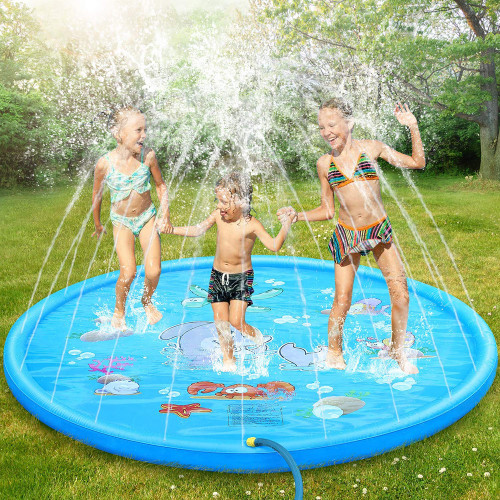 170cm Inflatable Sprinkler Splash Pad Play Mat