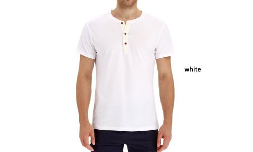 Explosive round neck short sleeve men's t-shirt-LA