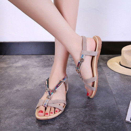 Beaded sandals women