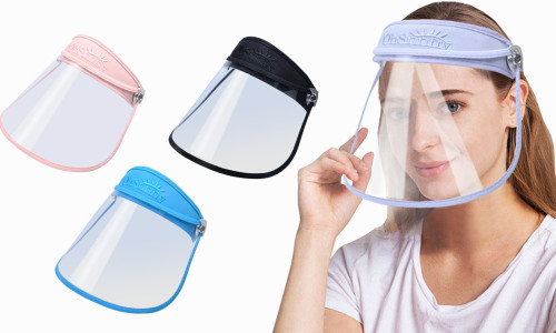 Adjustable Soft Screen Roll Up Face Shield hat