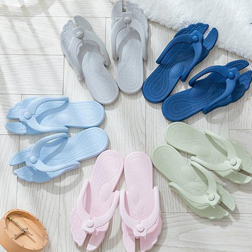 Portable folding flip flops
