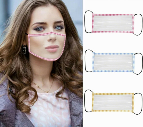 Pack of 2 Clear Smile Face Mask With Visible  Window