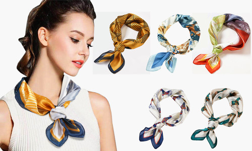 Elegant Look Square Satin Scarf
