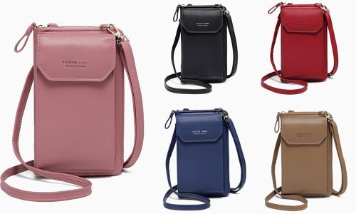 2in1 Multi-pockets Crossbody or Wristlet Handbag
