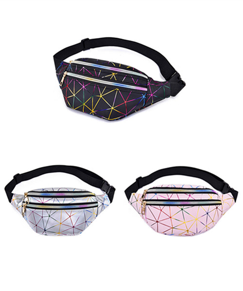 Geometric Holographich Waist Pouch