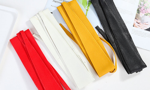PU imitation leather wide belt ladies all-match wide girdle bow tie clothing accessories belt-LA