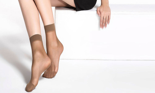 12pcs breathable anti-snagging wire mask socks 30d short tube velvet transparent socks-La