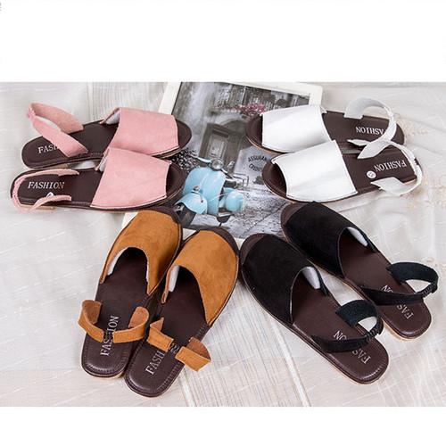 Summer Sandals Women Plus Size Flats Casual Peep Toe Shoes