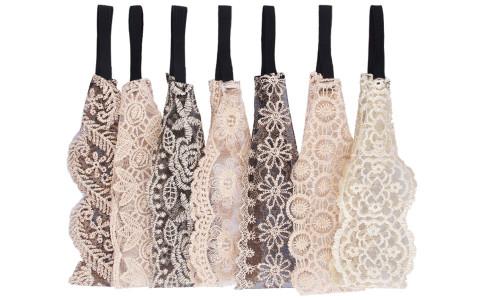 7pcs embroidery headband jewelry lace headband hair accessories headwear-La