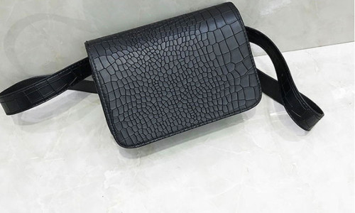 New waist bag lightweight crocodile pattern small square bag