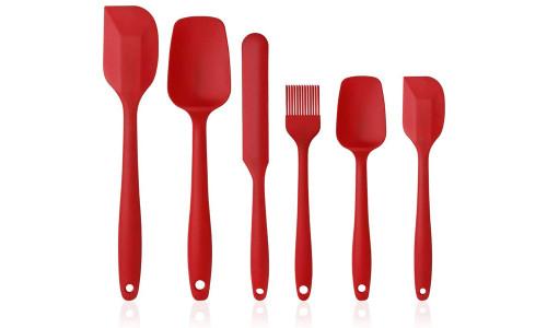 6 piece silicone kitchenware cream spatula baking tool set