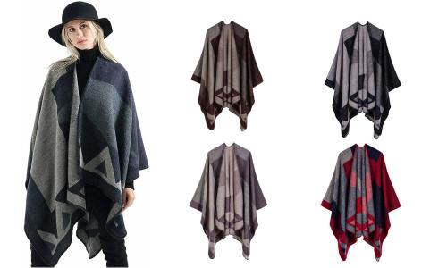 Autumn and winter shawl female imitation cashmere square double-sided warm cloak