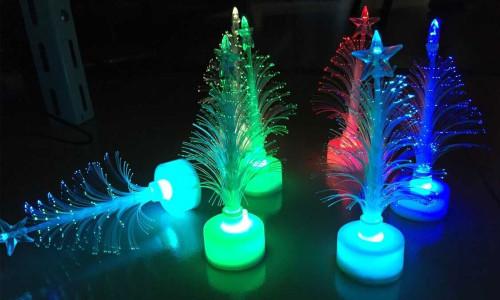 Flashing LED electronic optical fiber colorful Christmas tree