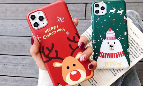 Elk TPU is suitable for iPhone Christmas bear mobile phone case
