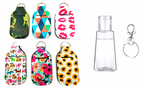 Neoprene Hand Sanitizer holder bag with refill bottle 30ML