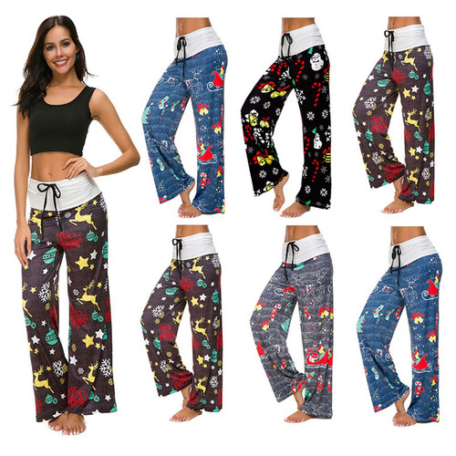 Christmas patterned lounge pants