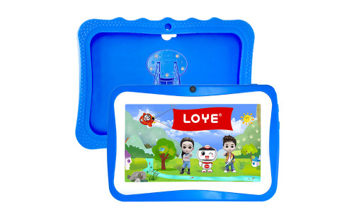 LOYE 7 inch Kids Tablet | Quad Core Android,16GB ROM | WiFi,Bluetooth,Dual Camera | Educationl,Games,Parental Control,Kids Software Pre-Installed with Kids-Tablet Case (Dark Blue)