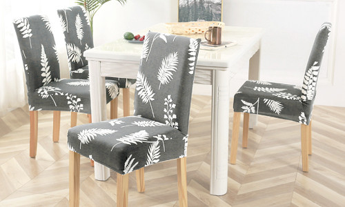 2pcs  Dining Chair Seat Covers Stretch Removable Decor