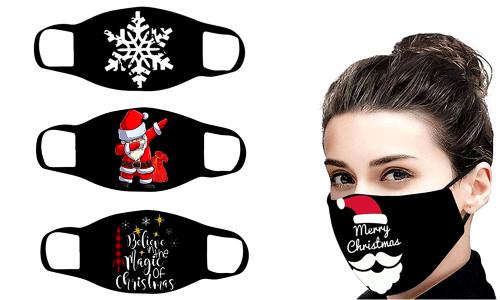 Christmas Reusable 3layer Cotton Mask-LAF