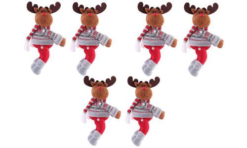 Creative Christmas Decoration Curtain Curtain Buckle Holiday Window Scene Arrangement Cartoon Doll Buckle