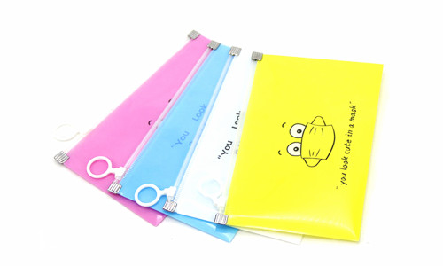 Face mask storage wallet bag with zip