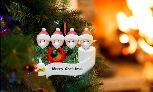 2020 Christmas Tree Pendant Ornament