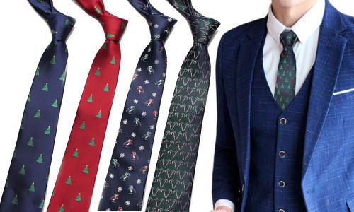Christmas Tie Holiday Necktie Creative Party Tie for Men Women-laf