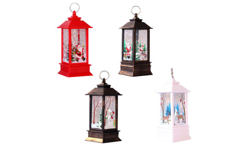 Christmas Lantern Candlestick Lamp Small Night Light Old Man Snowman Decoration Small Night Light Desktop Ornaments Christmas Decorations