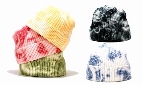 Tie-Dye Beanie Unisex Adults Knitted Hat