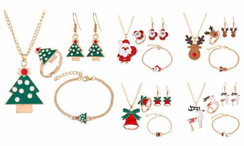 Set of 4 Christmas jewellery set