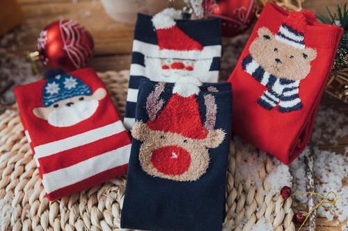 Festive Christmas print socks