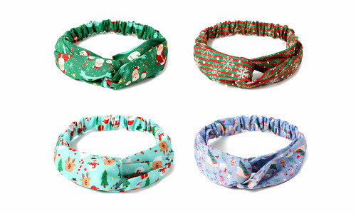 Christmas festival Front Knot Hair Band