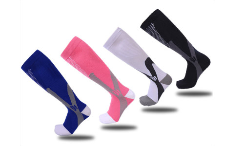 NEW Comfortable Unisex Men Women Leg Support Stretch Magic Compression Socks Sports Running Football Different Size-LAF