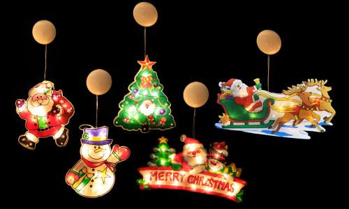 PVC Christmas LED Window suction Decoration Light