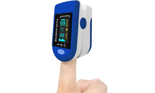 Finger Fingertip Blood Oxygen Meter Pulse Heart Rate Monitor Oximeter( BLUE)