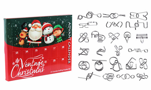 Christmas Advent Calendar 24 Brain teaser puzzle gift set