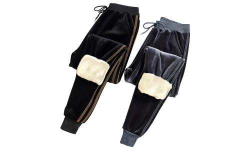 Velvet Extra warm Trousers with soft fleece