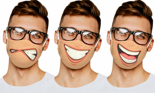Funny face Cotton Mask