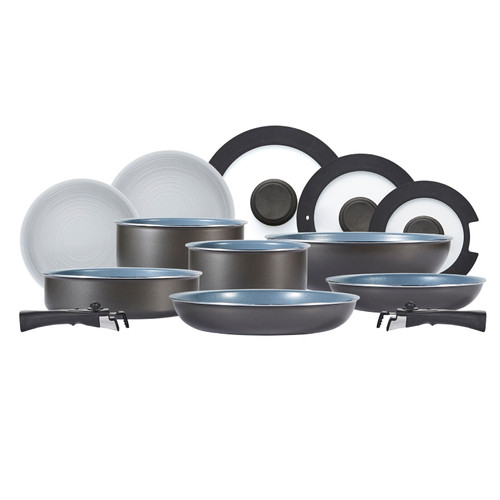 Tower Freedom T800200 13 Piece Cookware Set, Detachable Handles, Graphite