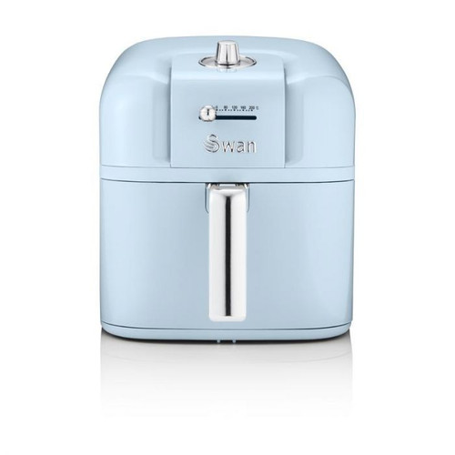 Swan Retro Air Fryer 6 L, Low Fat Healthy Frying, 80% Less Fat, Rapid Air Circulation