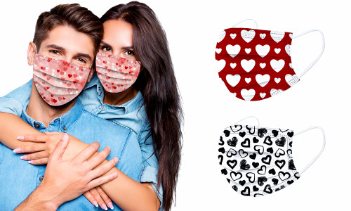 Pack of 5 Valentine's day Cheer up loved-ones Disposal Masks