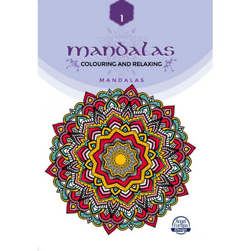 MANDALAS A4 colouring book Pattern  collection